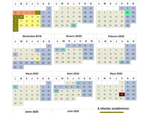 CALENDARIO ESCOLAR 2019-20120
