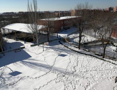 Fotos del paso de Filomena por el Cole. Gracias infinitas a las familias por su paciencia, apoyo y esfuerzo en la retirada de hielo y nieve.